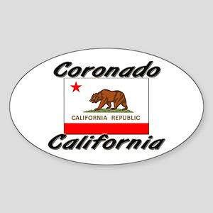 Coronado California Oval Sticker