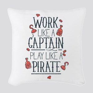 Play Like A Pirate Woven Throw Pillow