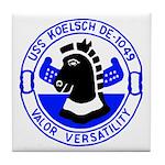 USS Koelsch (DE 1049) Tile Coaster