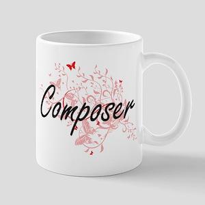 Composer Artistic Job Design with Butterflies Mugs