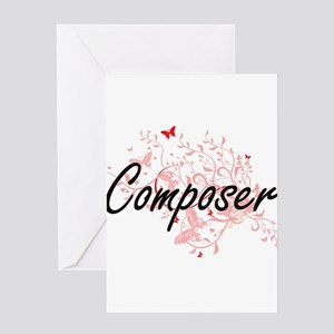 Composer Artistic Job Design with B Greeting Cards