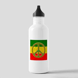 Rasta Peace Symbol Water Bottle