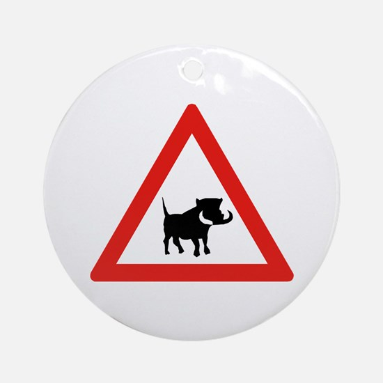 Beware of Warthogs, South Africa Ornament (Round)