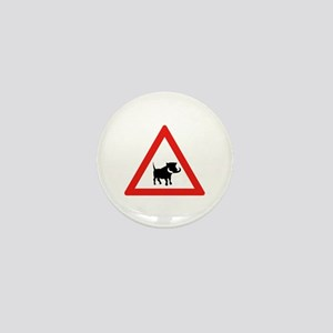 Beware of Warthogs, South Africa Mini Button