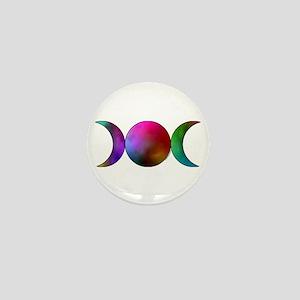 Triple Moon Mini Button-Watercolor