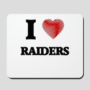 I Love Raiders Mousepad