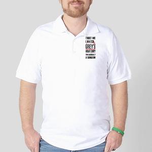 Greys Anatomy trust me black Golf Shirt