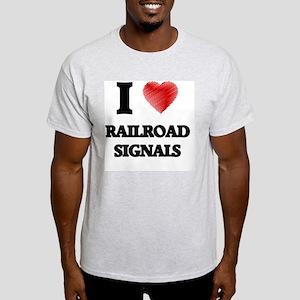 I Love Railroad Signals T-Shirt