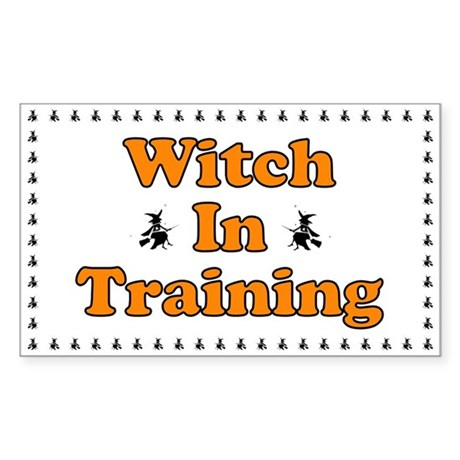 Witch in Training Rectangle Sticker