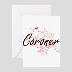 Coroner Artistic Job Design with Bu Greeting Cards