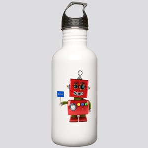 Red toy robot with hel Stainless Water Bottle 1.0L