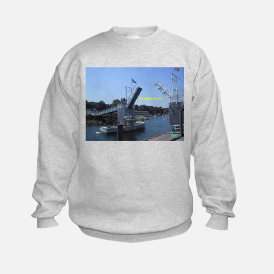 drawbridge in Perkins Cove, Maine Sweatshirt