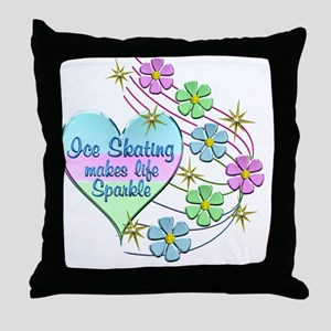 Ice Skating Sparkles Throw Pillow