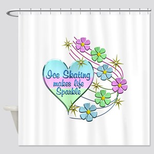 Ice Skating Sparkles Shower Curtain