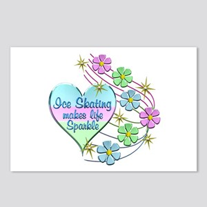 Ice Skating Sparkles Postcards (Package of 8)