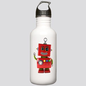 Red toy robot waving h Stainless Water Bottle 1.0L