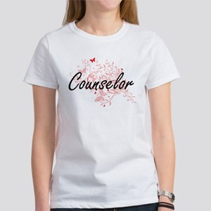 Counselor Artistic Job Design with Butterf T-Shirt