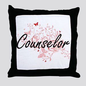 Counselor Artistic Job Design with Bu Throw Pillow
