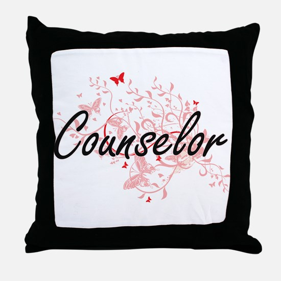 Counselor Artistic Job Design with Bu Throw Pillow