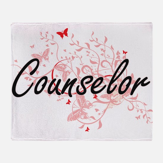 Counselor Artistic Job Design with B Throw Blanket