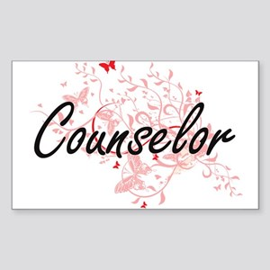 Counselor Artistic Job Design with Butterf Sticker