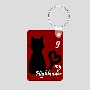 Highlander Cat Heart Keychain Keychains