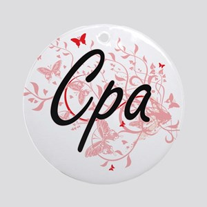 Cpa Artistic Job Design with Butter Round Ornament