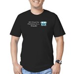 Christmas Truck Men's Fitted T-Shirt (dark)