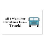 Christmas Truck Sticker (Rectangle 10 pk)