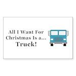 Christmas Truck Sticker (Rectangle 50 pk)