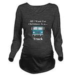 Christmas Truck Long Sleeve Maternity T-Shirt