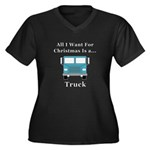 Christmas Tr Women's Plus Size V-Neck Dark T-Shirt