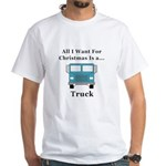 Christmas Truck White T-Shirt
