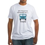 Christmas Truck Fitted T-Shirt
