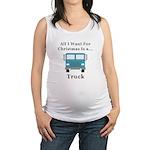 Christmas Truck Maternity Tank Top