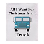 Christmas Truck Throw Blanket