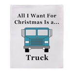 Christmas Truck Throw Blanket