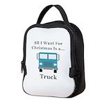 Christmas Truck Neoprene Lunch Bag