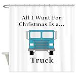 Christmas Truck Shower Curtain