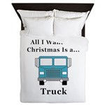 Christmas Truck Queen Duvet