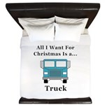 Christmas Truck King Duvet