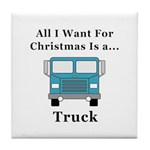 Christmas Truck Tile Coaster
