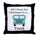 Christmas Truck Throw Pillow