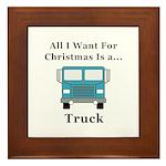 Christmas Truck Framed Tile