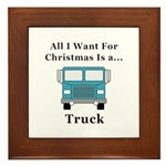 Christmas Truck Framed Tile