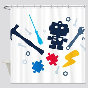 Young Engineer - jeans Shower Curtain