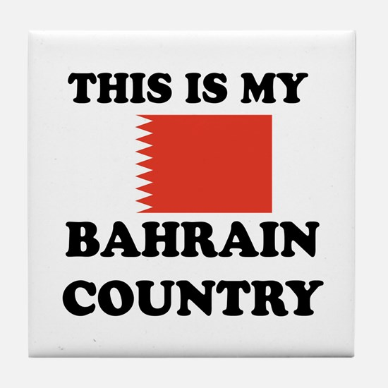 This Is My Bahrain Country Tile Coaster