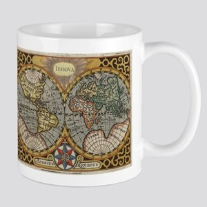 Vintage Map of The World (1596) Mugs