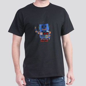 Blue toy robot waving hello T-Shirt
