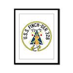USS Finch (DER 328) Framed Panel Print